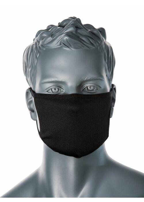 PORTWEST CV-33 3 rétegű anti-mikrobiális fekete arcmaszk