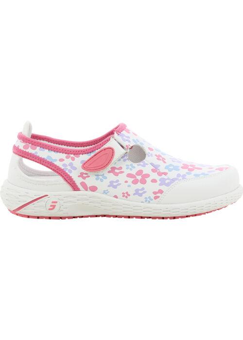 Lina női bőrcipő rózsaszín mintás